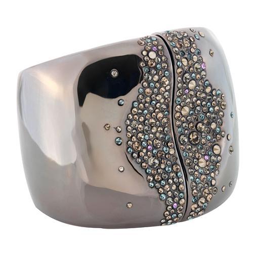 Alexis Bittar Crystal Encrusted Large Hinge Bracelet