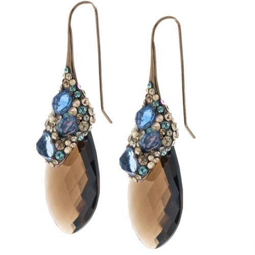 Alexis Bittar Crystal Encrusted Smoky Quartz Drop Earrings