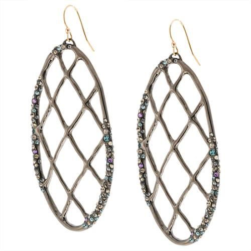 Alexis Bittar Crystal Lattice Oval Earring