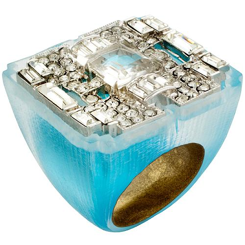 Alexis Bittar Extra Large Square Retro Ring