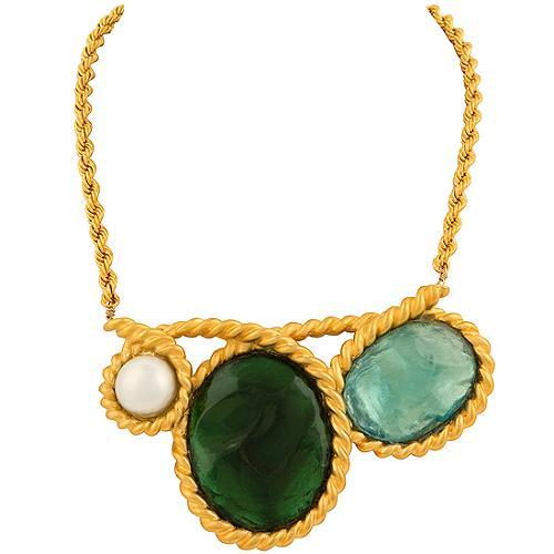 Alexis Bittar Extra Large Tourmaline Necklace