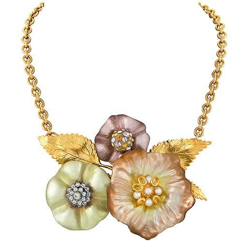 Alexis Bittar Flower Statement Necklace
