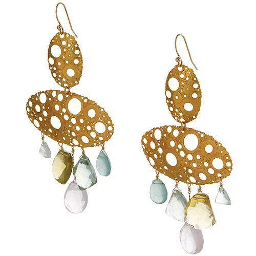 Alexis Bittar Large Klimt Disc Earrings