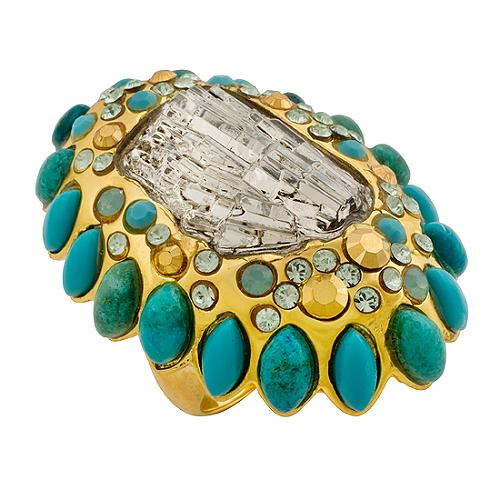 Alexis Bittar Large Turquoise Ring