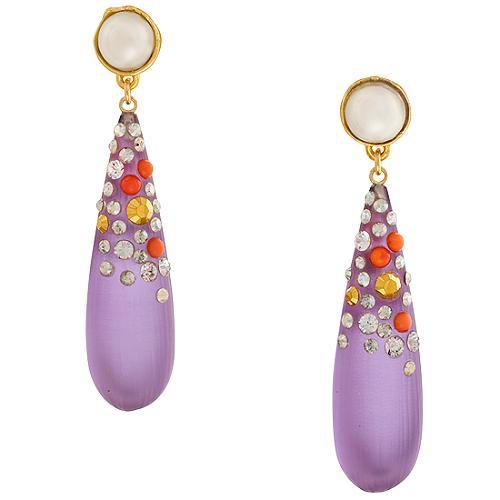 Alexis Bittar Long Montauk Pearl Drop Earrings