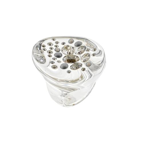 Alexis Bittar Lucite Cosmic Cocktail Ring - Size 8