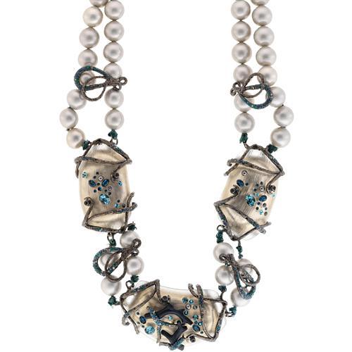 Alexis Bittar Midnight Garden Pearl Vine Necklace