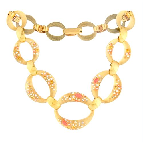 Alexis Bittar Montauk Coral Link Necklace