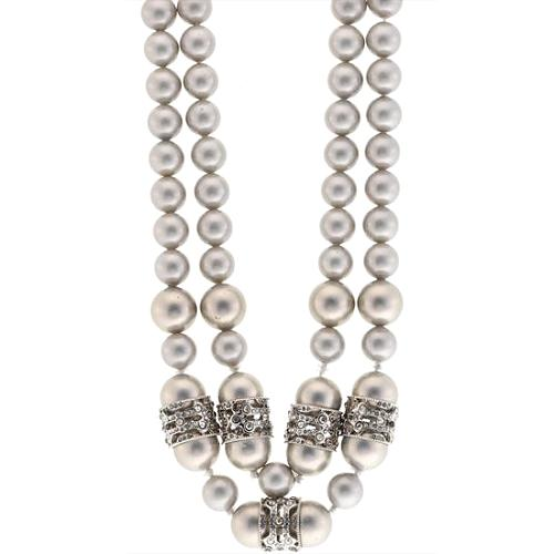 Alexis Bittar Neo Deco Double Strand Pearl Necklace - FINAL SALE