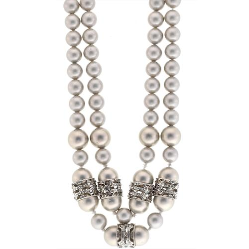 Alexis Bittar Neo Deco Double Strand Pearl Necklace