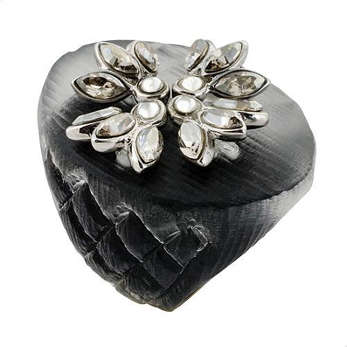 Alexis Bittar Rhodium Hermitage Crystal Cocktail Ring