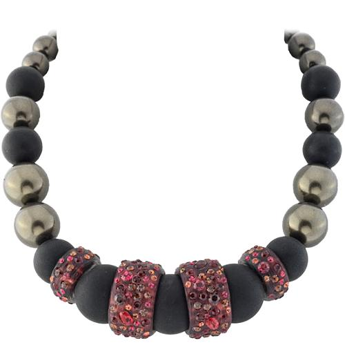 Alexis Bittar Ruby Dust Onyx & Pearl Necklace