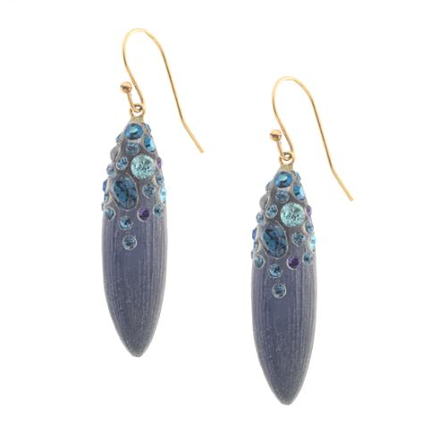 Alexis Bittar Sapphire Dust Pod Earrings