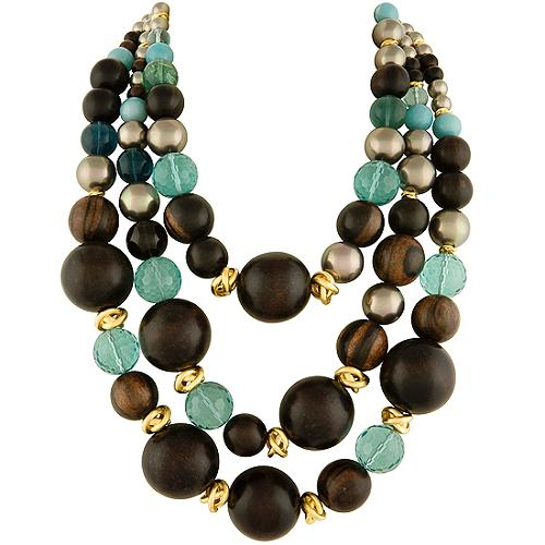 Alexis Bittar Wood & Fluorite Necklace