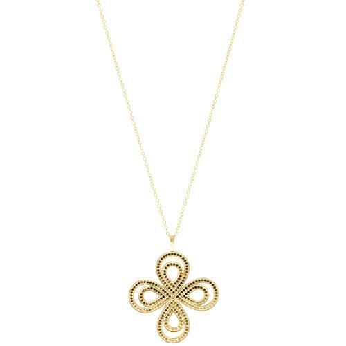 Anna Beck Gold Flower Pendant