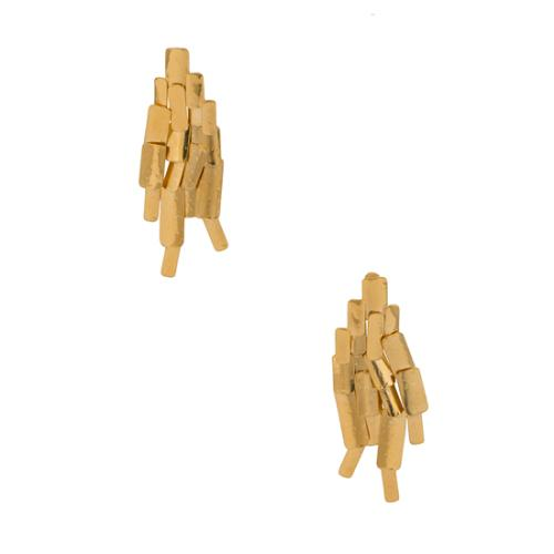 Aurelie Bidermann 18kt Gold-Plated Machu Picchu Clip Earrings