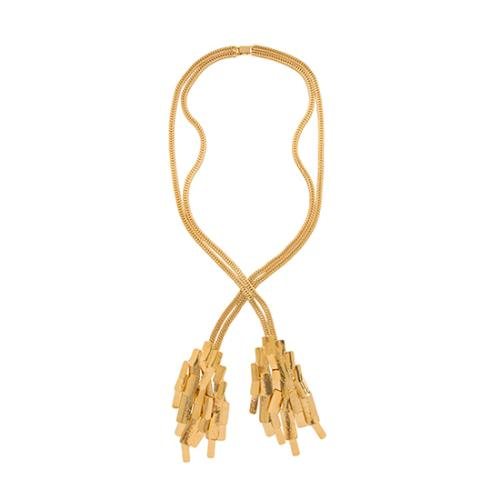Aurelie Bidermann 18kt Gold Plated Machu Picchu Long Necklace - FINAL SALE