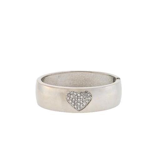 Betsey Johnson Crystal Heart Cuff