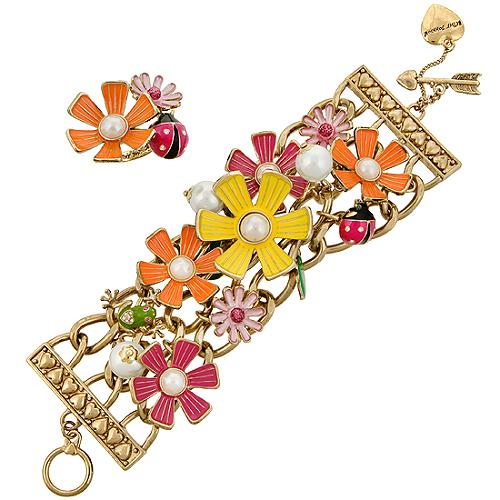 Betsey Johnson Flower Girl Bracelet & Ring