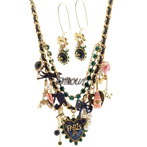 Betsey Johnson Goes to Paris Necklace & Earrings