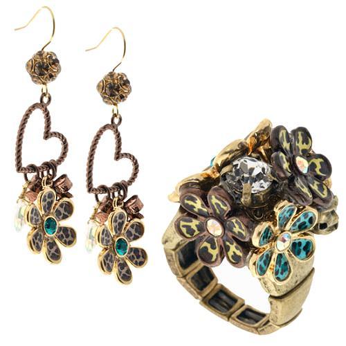 Betsey Johnson Jungle Fever Ring & Earrings