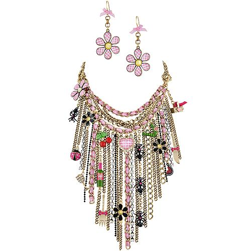 Betsey Johnson Picnic Statement Necklace & Earrings