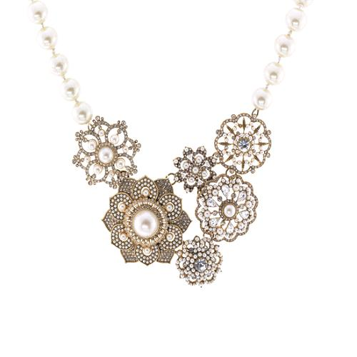 Carolee Lux Flower Statement Necklace & Button Earrings - FINAL SALE