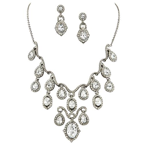 Carolee Lux Frontal Drop Necklace & Earrings