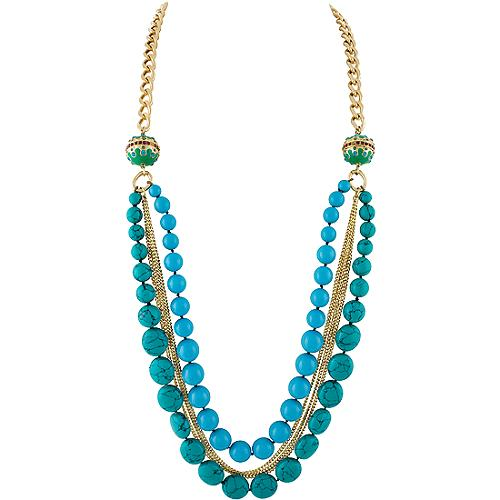 Carolee Lux Island Get Away Long Double Frontal Necklace