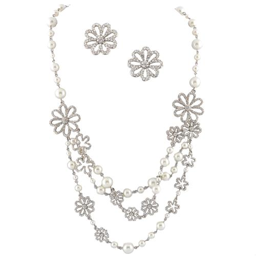 Carolee Lux Matisse Multi Strand Pearl Necklaces & Earrings