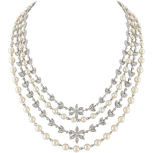 Multi Row Pearl Necklace: Carolee Lux 'Social Climber' Multi Row Pearl Necklace