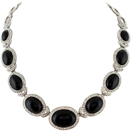 Carolee Lux Social Climber Oval Collar Necklace