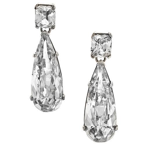 Carolee Lux Tear Drop Crystal Earrings