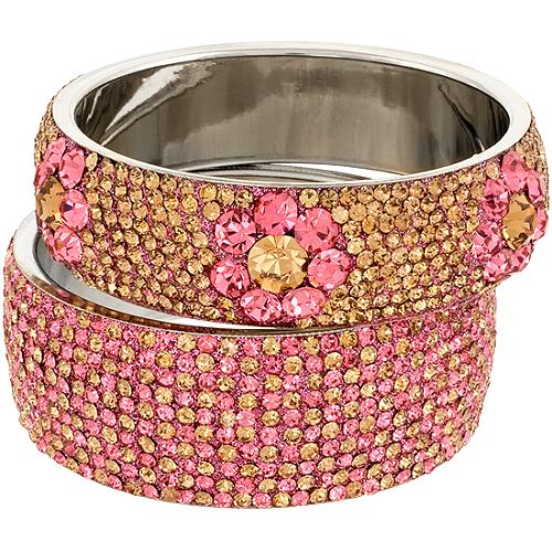 Chamak by Priya Kakkar Multi Set of Pink Bangles