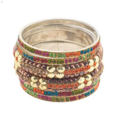 Chamak by Priya Kakkar Set of Jeweled Bangle Bracelets