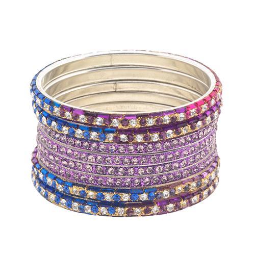 Chamak by Priya Kakkar Set of Jeweled Bangle Bracelets