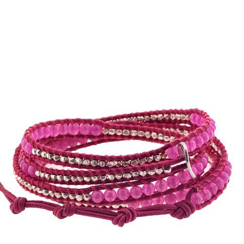 Chan Luu Fushia Multi Wrap Leather Bracelet