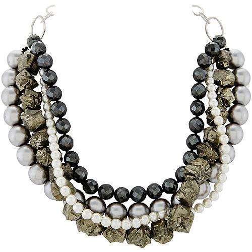 Chan Luu Hematite Pearl Mix Necklace