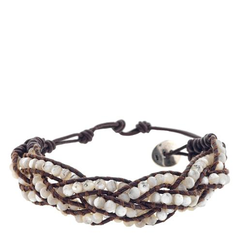 Chan Luu Mother of Pearl Leather Bracelet