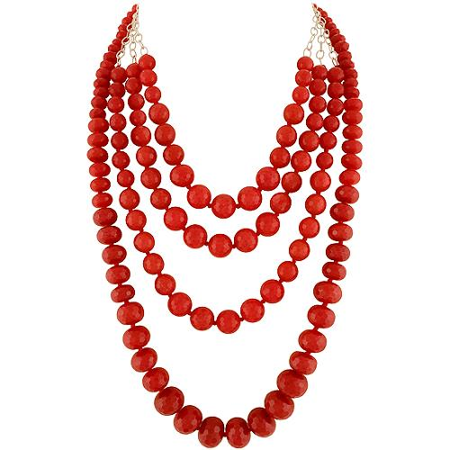 Chan Luu Red Jade Layering Necklaces