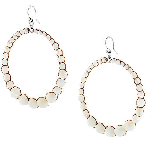 Chan Luu White MOP Earrings