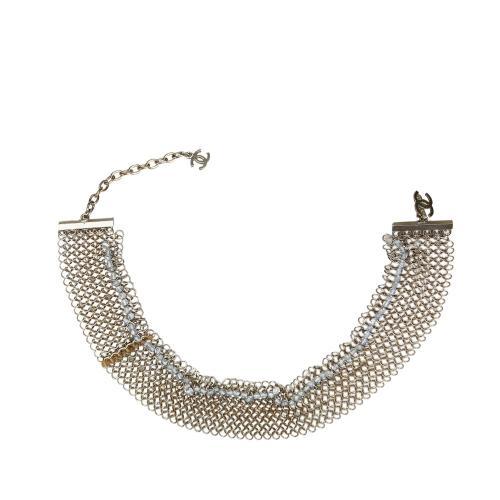 Chanel Beaded Metallic Bracelet