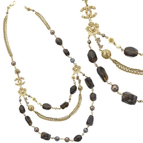 Chanel Brown Quartz Necklace