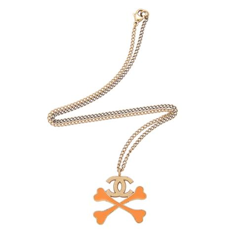 Chanel CC Crossbones Necklace