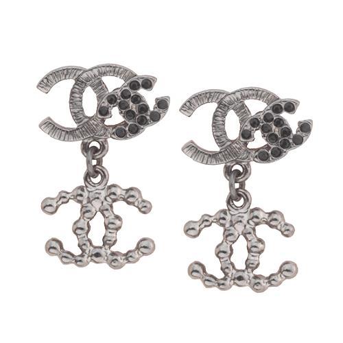 Chanel CC Dangle Post Earrings