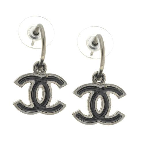 Chanel CC Enamel Earrings