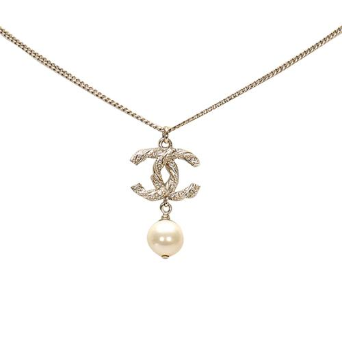Chanel CC Faux Pearl Necklace