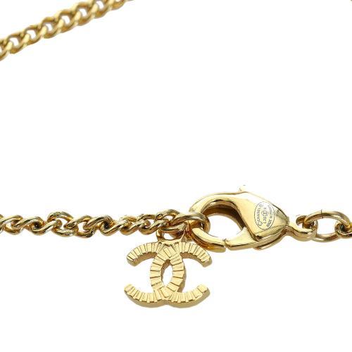 Chanel CC Faux Pearl Teardrop Necklace