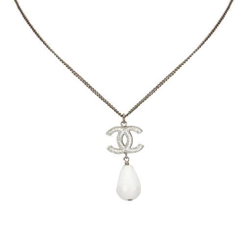 Chanel CC Drop Necklace