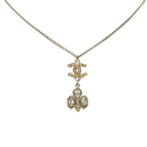 Chanel CC Pendant Rhinestones Necklace